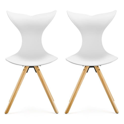 LANGRIA 2-Pack Modern Dining Room Chairs with Beech Legs