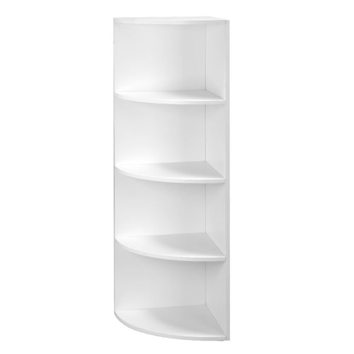 LANGRIA 5-Tier Modular Shelving Corner Shelf Narrow Bookcase