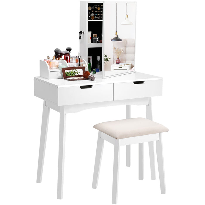 LANGRIA Makeup Vanity Set with Mirror