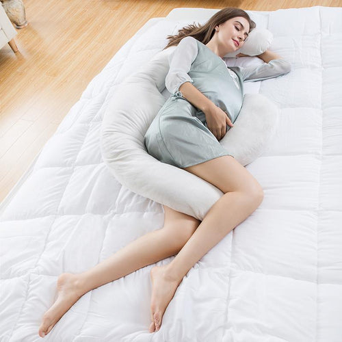 LANGRIA Enlarged Crescent Full Body Maternity Pregnancy Pillow