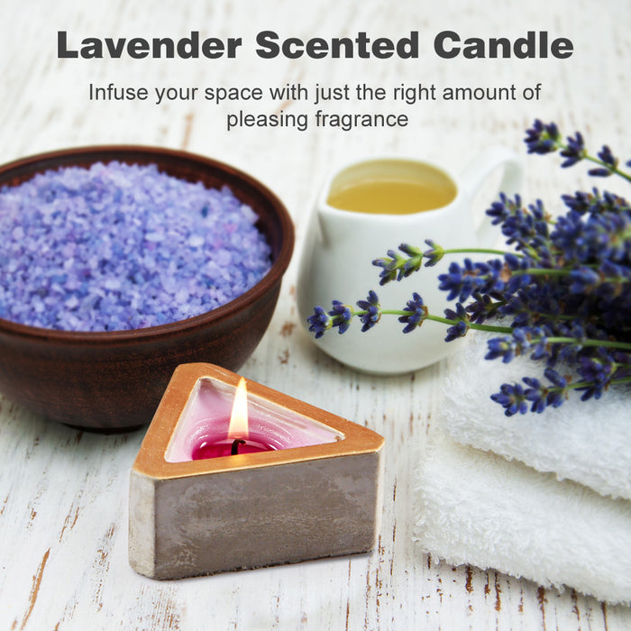 6-pack Triangular Geometrical DIY Puzzle Lavender Scented Candle Gift Box