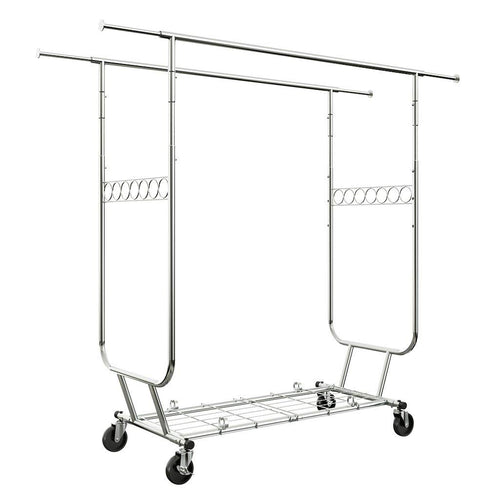 LANGRIA Double Rail Clothing Garment Rack