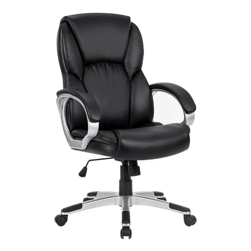 LANGRIA LANGRIA Mid-Back Faux Leather Computer Executive Office Chair, Modern and Ergonomic Design, Adjustable Seat Height, Tilt Mechanism, 360 Degree Swivel