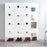 12 Cube DIY Interlocking Modular Shelving Storage Organizer Closet with Corner Cubes
