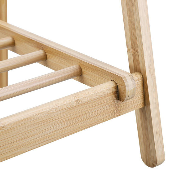 Foldable Bamboo Clothes Laundry Rack