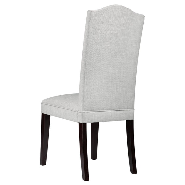 Modern Faux Linen Upholstered High Back Dining Chair (Set of 2)