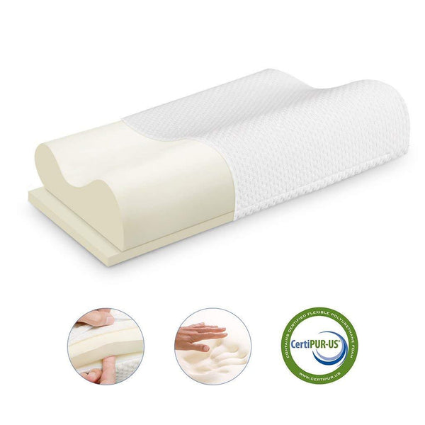 LANGRIA Orthopaedic Memory Foam Contour Bed Pillow