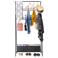 LANGRIA Heavy Duty Metal Entryway Garment
