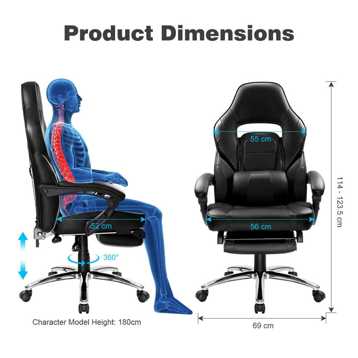 Astounding New Gaming Chair Racing Style Faux Leather High Back Chair Ncnpc Chair Design For Home Ncnpcorg