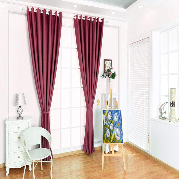 LANGRIA Blackout Curtains Set with 2 Decorative Tie-Backs