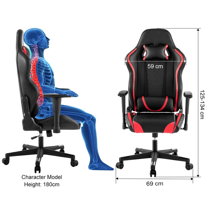 Duty Racing Swivel Leather Chair Heavy Gaming Style Computer New Office iXOkPZu