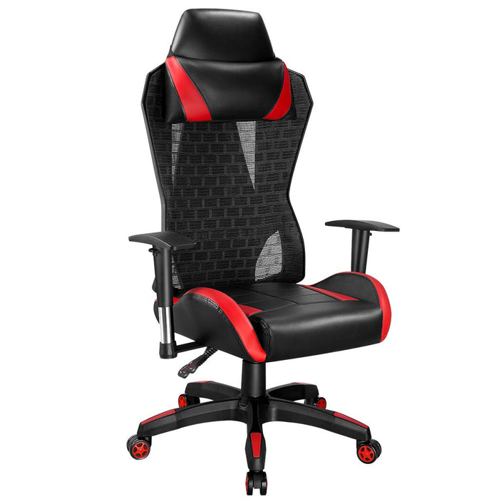 LANGRIA LANGRIA Office Chair for Computer Desk Gaming with Tilt Angle High Back Adjustable Armrests and Headrest, Retractable Footrest, Comfortable Thick Padding for Ergonomic Swivel Design