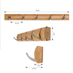 LANGRIA Folding Hook Coat Rack