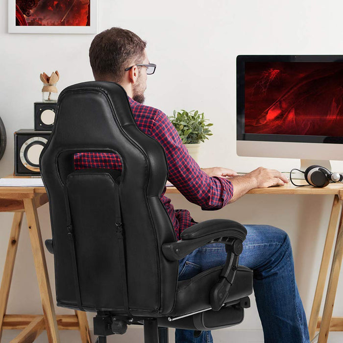Superb New Gaming Chair Racing Style Faux Leather High Back Chair Ncnpc Chair Design For Home Ncnpcorg