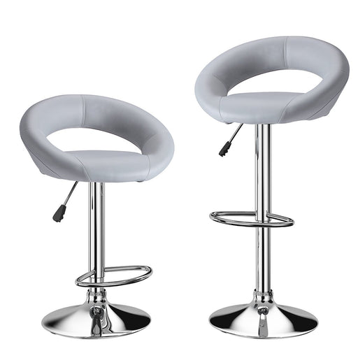 Enjoyable Langria Bar Stools Set Of 2 Faux Leather With Low Crescent Unemploymentrelief Wooden Chair Designs For Living Room Unemploymentrelieforg