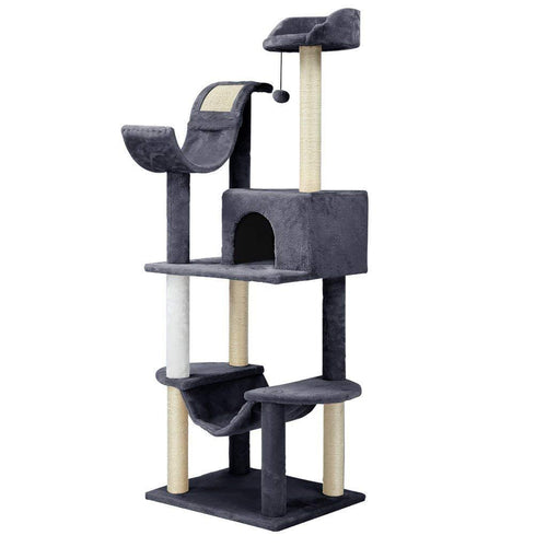 LANGRIA 60.5'' Cat Tree with Hammock Multi Level Tower