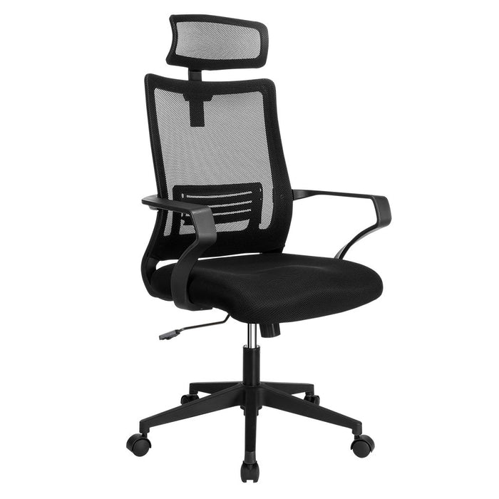 LANGRIA LANGRIA Mesh Office Chair Ergonomic Comfortable High Back Desk Chair with Headrest and Lumbar Support,Adjustable Seat and Backrest
