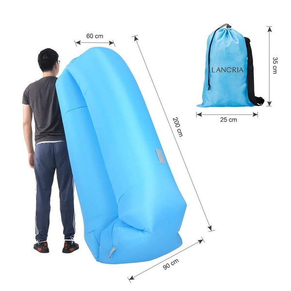 LANGRIA Inflatable Air Lounger, Blue
