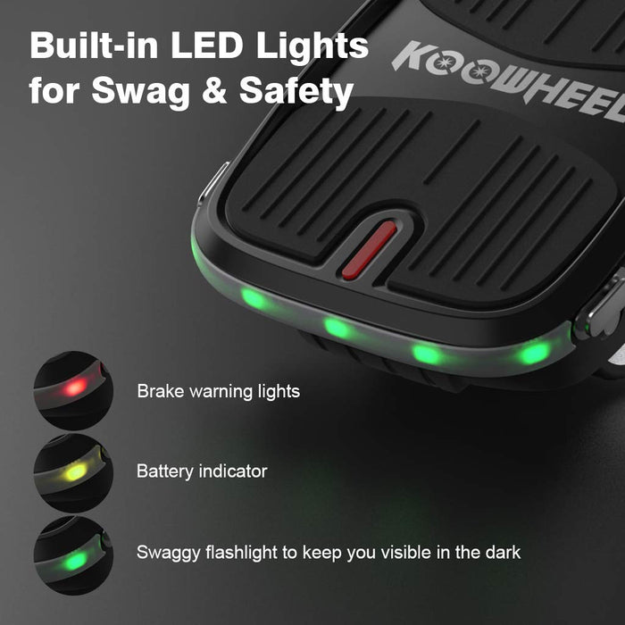 LANGRIA Self Balancing Hover Shoes UL2272 Certified with LED Lights Powerful 250W Dual Motor and Ultra-Flexible Separated Shoe Design for Electric Freewheeling Suitable for Teenagers and Adults