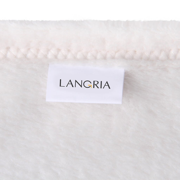LANGRIA LANGRIA Cozy Flannel Blanket Throw for Adults Kids Home Outdoor Travel, Polyester Microfiber, Wrinkle Resistant, Anti-Fade