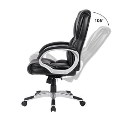 LANGRIA Mid-Back Faux Leather Office Chair