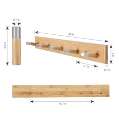 LANGRIA Wall Mounted Coat Rack