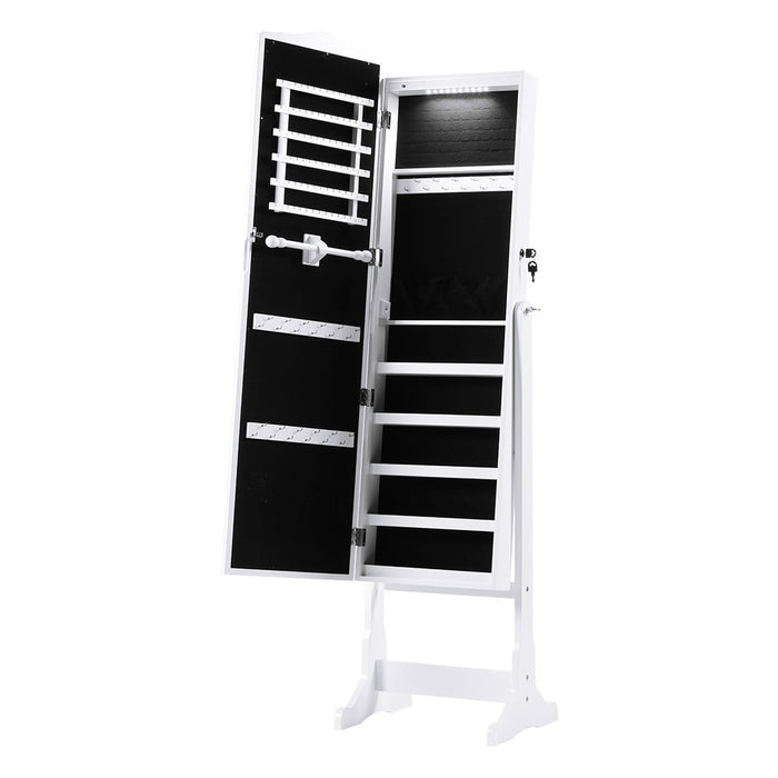 2be5d36f7 LANGRIA LANGRIA 10 LEDs Free Standing Jewelry Cabinet Lockable Full-Length  Mirrored Jewelry Armoire with