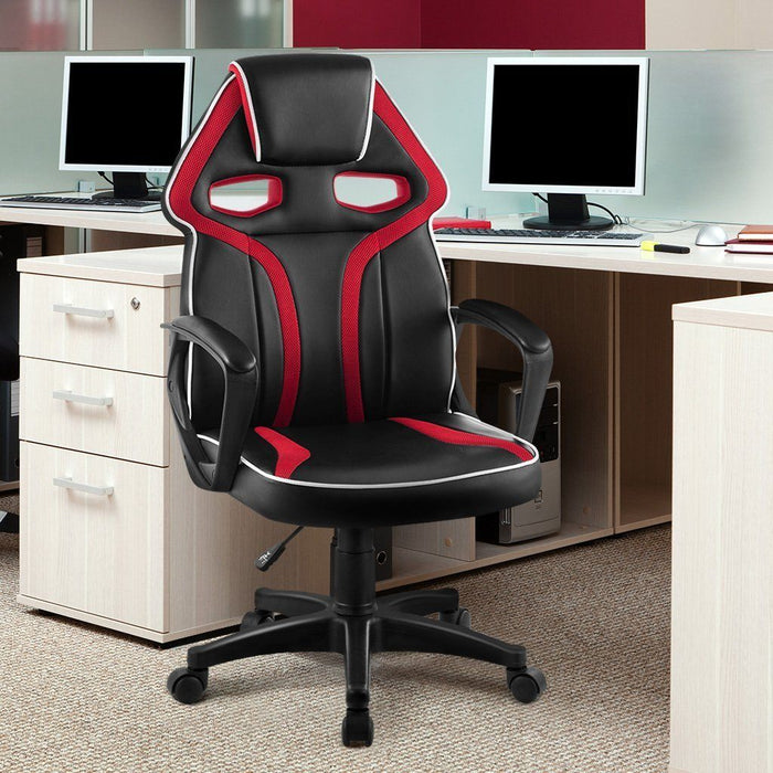 Fantastic High Back Racing Style Faux Leather Executive Computer Gaming Office Chair Squirreltailoven Fun Painted Chair Ideas Images Squirreltailovenorg