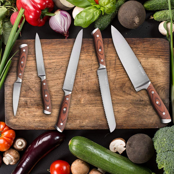 LANGRIA Germany High Carbon Stainless Steel Knife Set