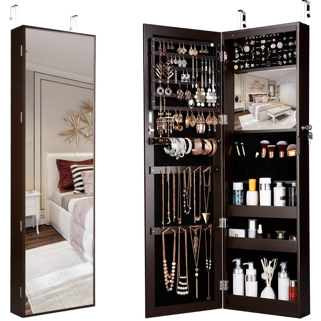 Full Length Mirror Jewelry Armoire Langria