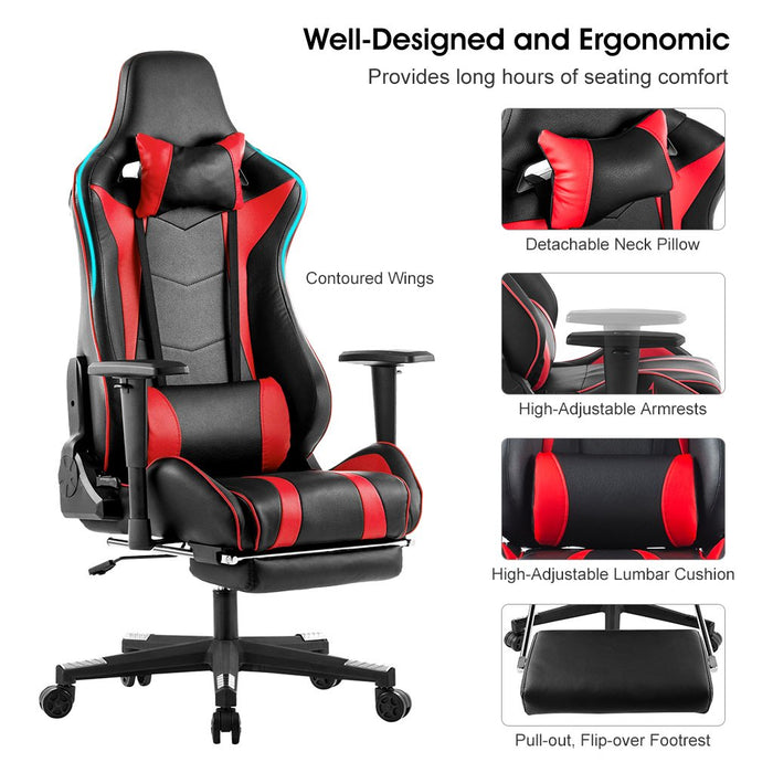 Wondrous Executive High Back Pu Leather Computer Gaming Chair Racing Style Bralicious Painted Fabric Chair Ideas Braliciousco