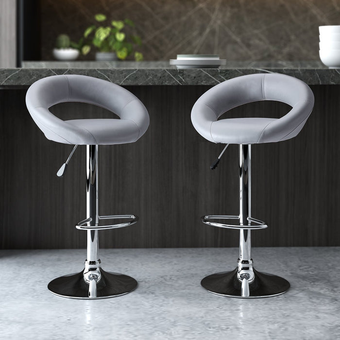 Surprising Bar Stools Set Of 2 Faux Leather Pdpeps Interior Chair Design Pdpepsorg