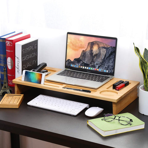 LANGRIA Bamboo Monitor Stand