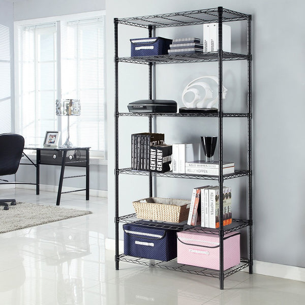 LANGRIA 6 Tier Heavy Duty Extra Large Wire Storage Rack, 35.4'' x 17.7'' x 78.7''