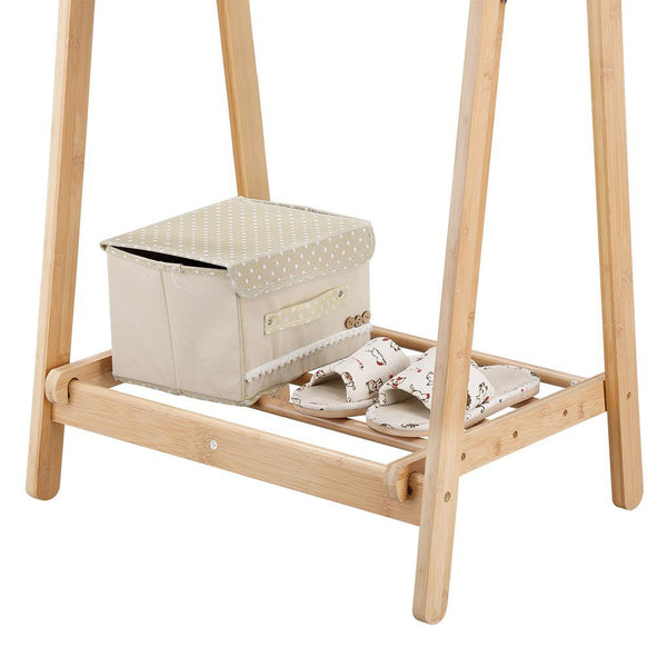 LANGRIA Foldable Bamboo Clothes Laundry Rack