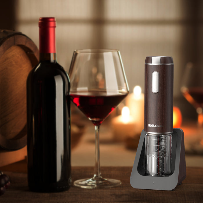 Electric Wine Bottle Opener With Foil Cutter and Rechargeable 600mAh Battery