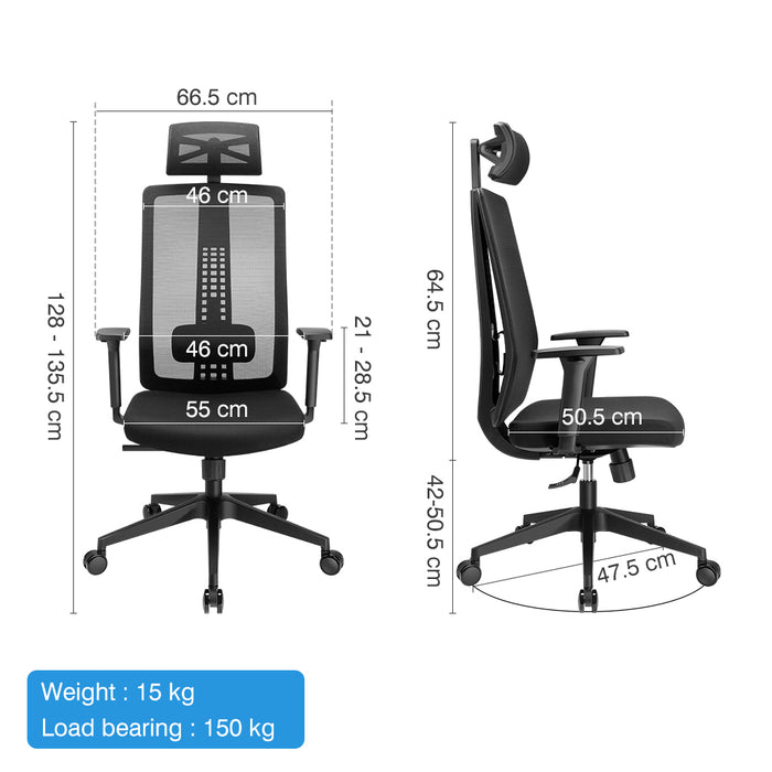Ergonomic High-Back Mesh Office Chair