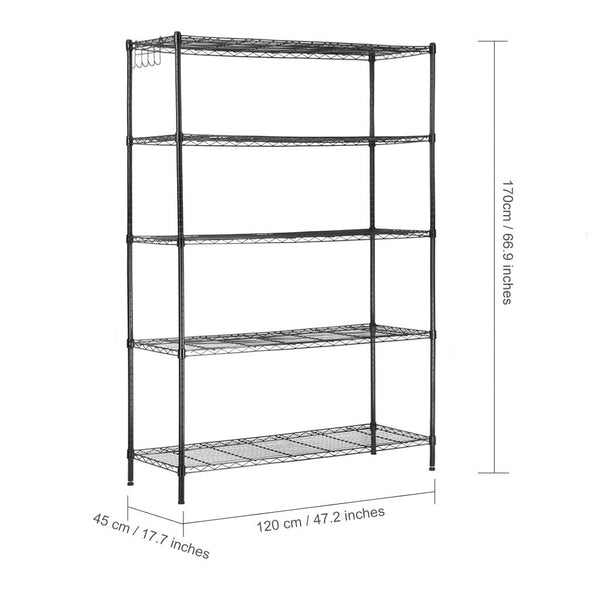 LANGRIA 5 Tier Heavy Duty Extra Large Storage Organization Rack