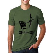 Breaking Bad - Heisenberg's Face T-Shirt-T-Shirt-Trending N-dark green-M-Trending N