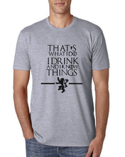 Game of Thrones - I Know Things T-Shirt-T-Shirt-Trending N-Gray-S-Trending N