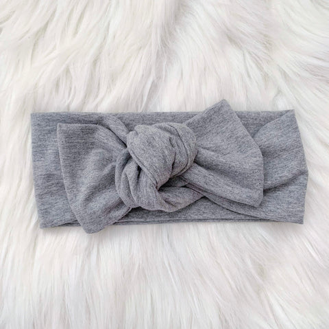 HEATHER GREY KNOT BOW