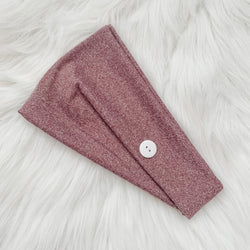 HEATHERED PLUM MULTI-WAY HEADBAND