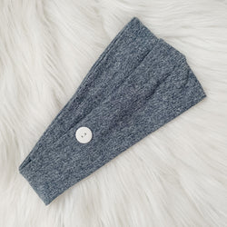 HEATHERED NAVY MULTI-WAY HEADBAND