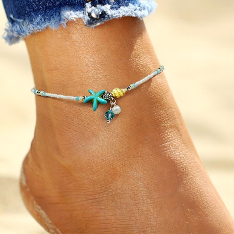 Rage Hawaii Bohemia Bead Shell Anklet - Rage Hawaii