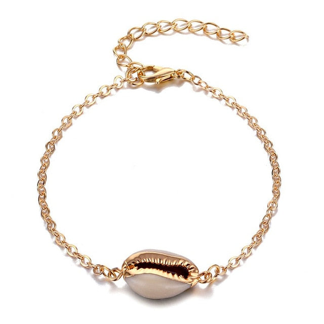 Gold Plated Cowrie Bracelet