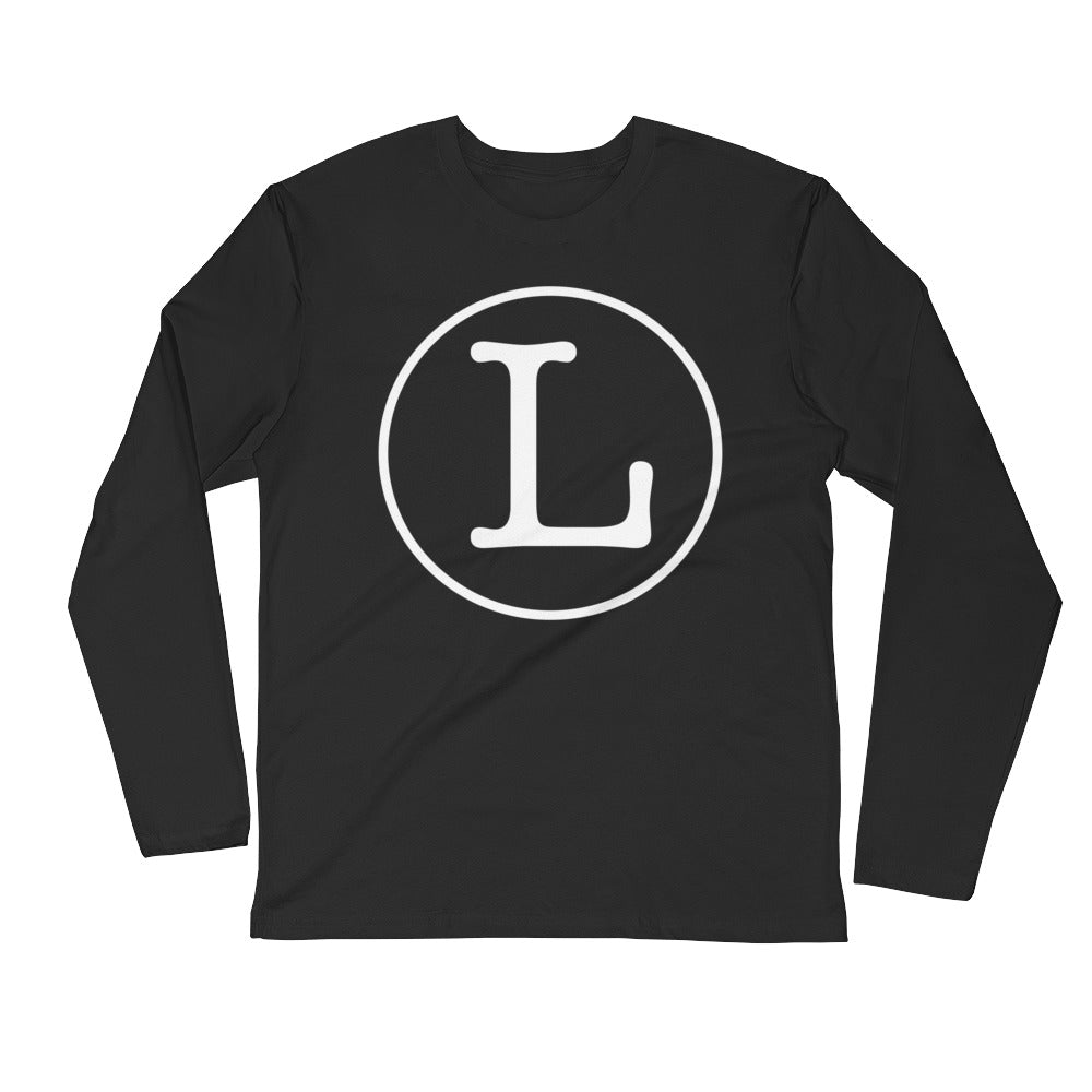 Circle Logo Long Sleeve Fitted Crew