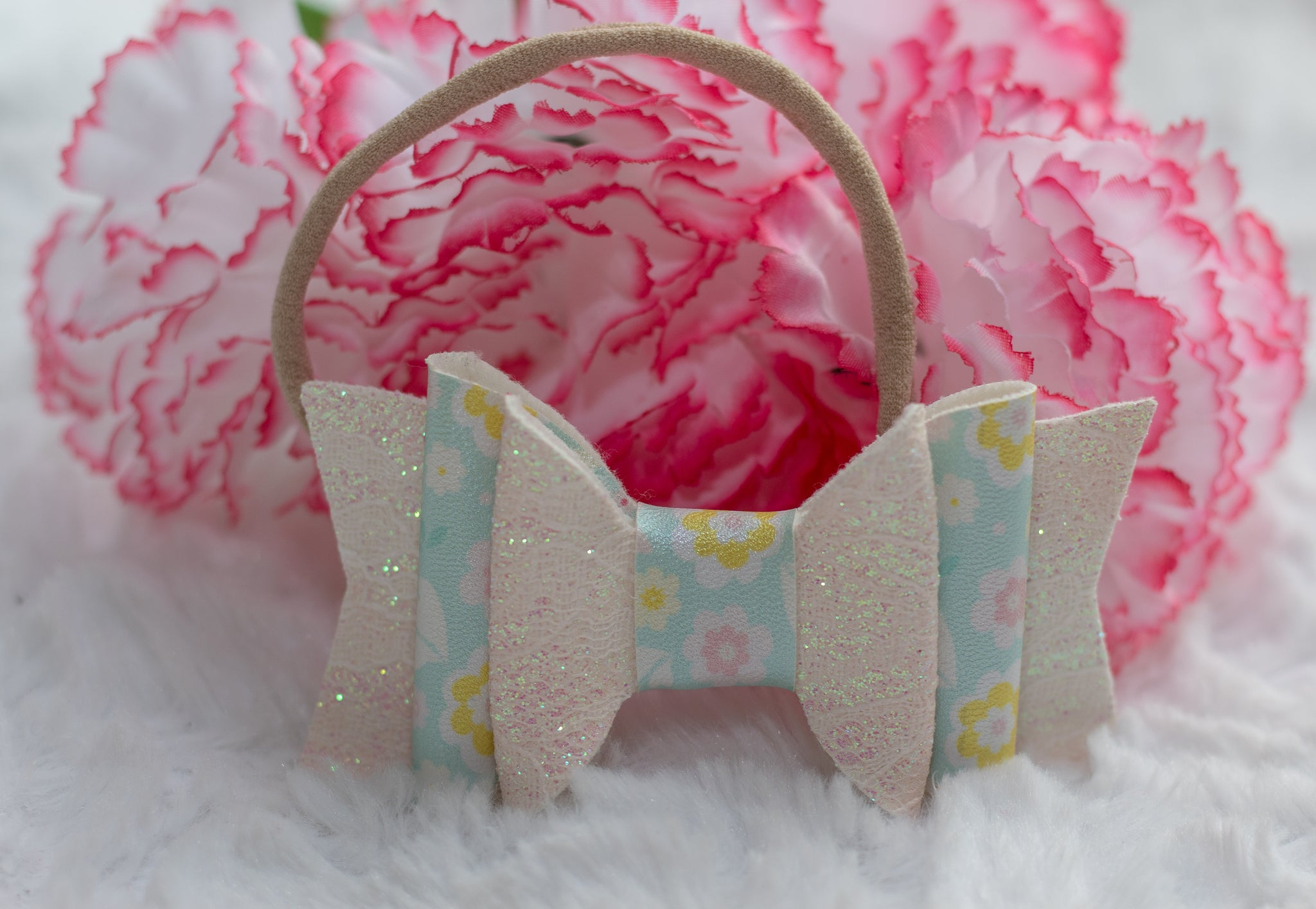 *LIMITED EDITION* Spring Tulips Double Bow Headband