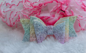 *LIMITED EDITION* Pastel Rainbow Double Bow