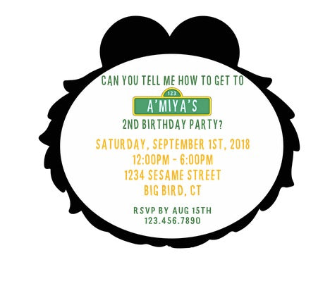 Elmo Party Invitation