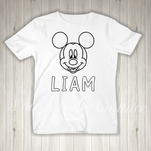 Color Me {Personalized Mickey Mouse}